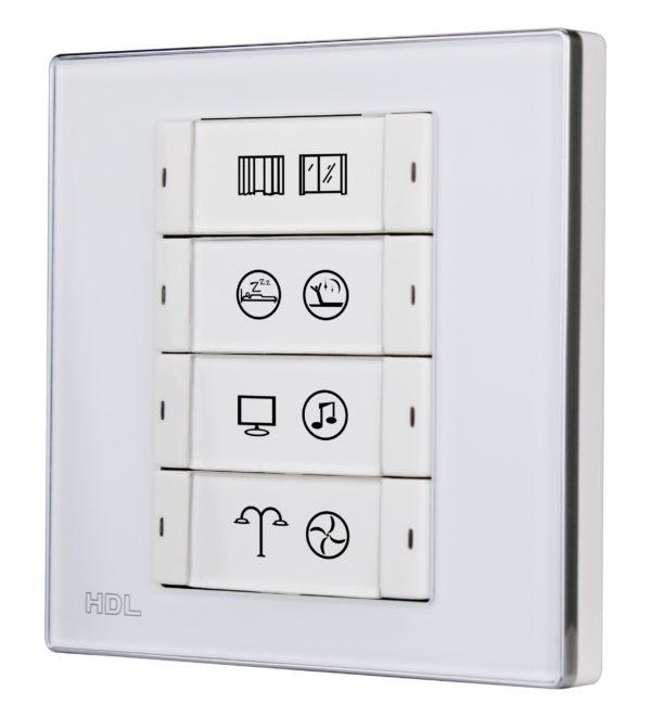 KNX bryter 8 knapper