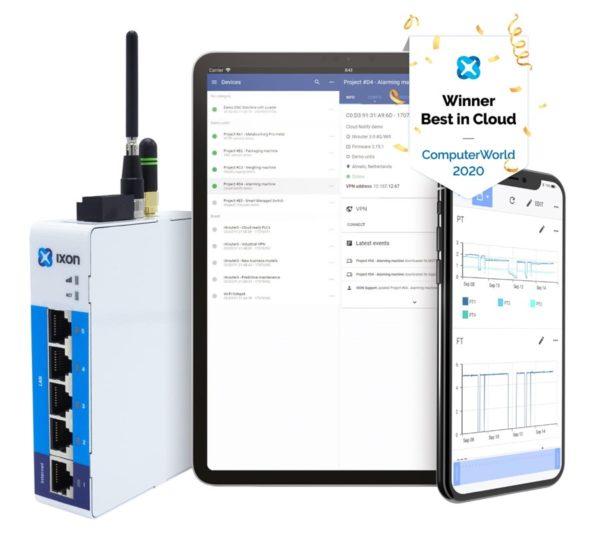iot gateway ixon cloud sikker fjernstyring